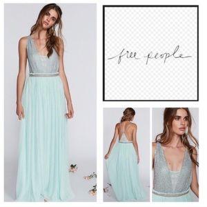 Free People Mint Green Cleo Maxi dress. NWOT!